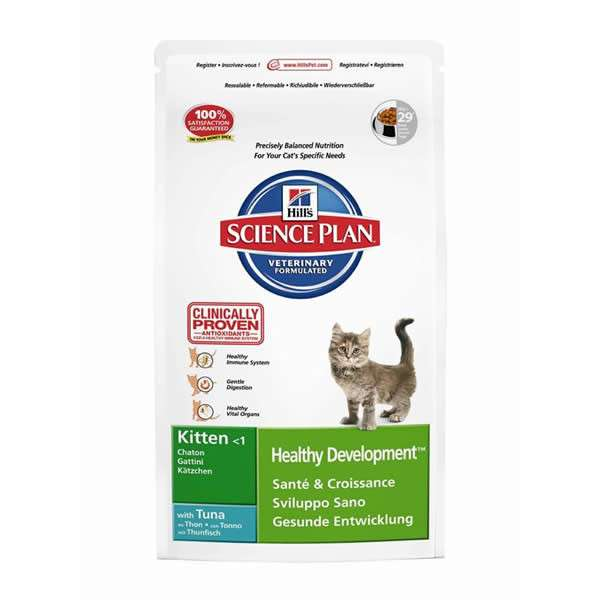 Hill's Science Plan Feline - Kitten Healthy Development med Tunfisk 10 kg, 2 kg, 5 kg, 400 g kjøp billig med rabatt