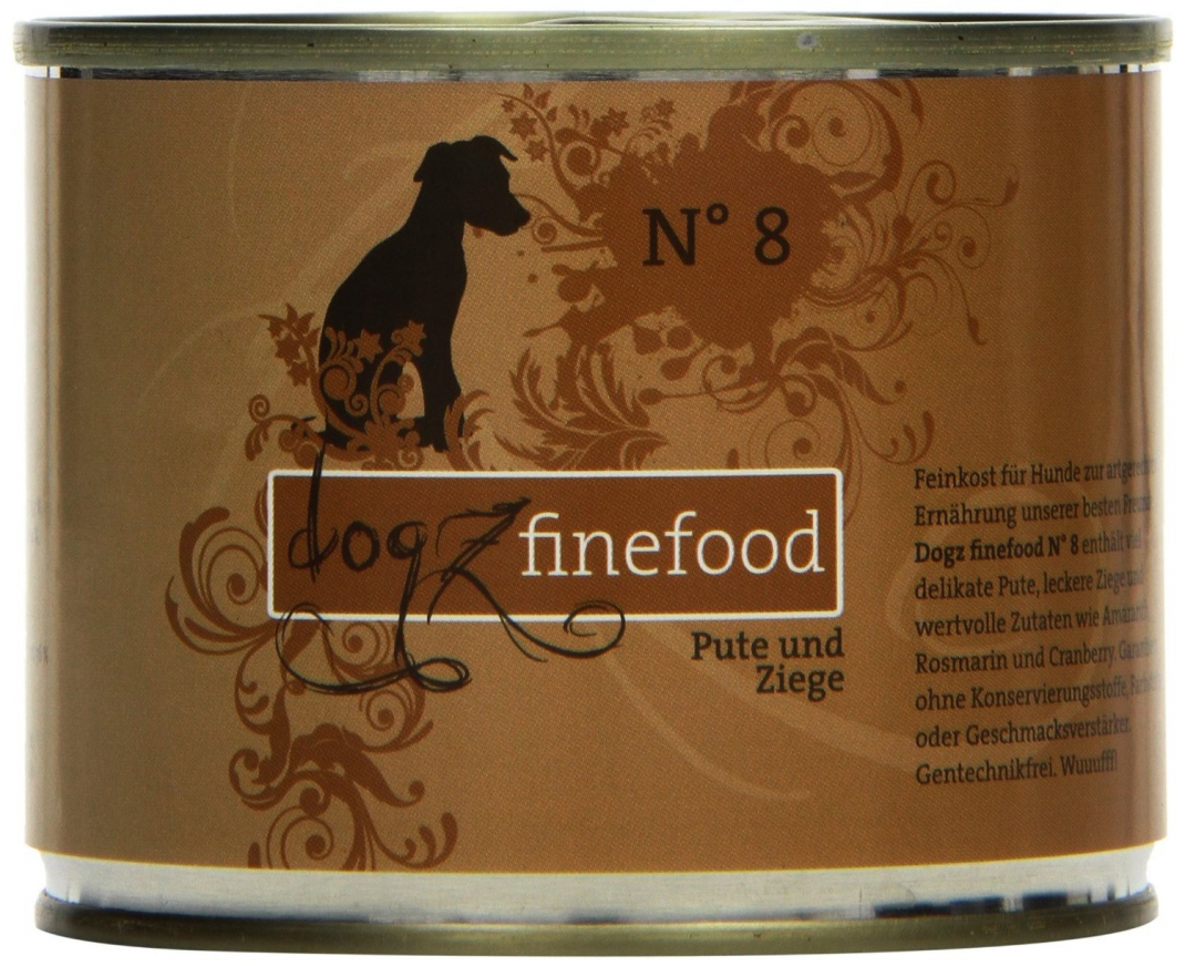 Dogz Finefood No.8 Pute & Ziege 200 g