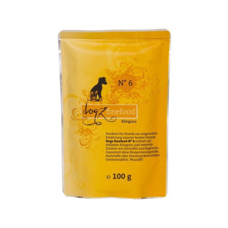 Dogz Finefood No.6 Känguru 100 g