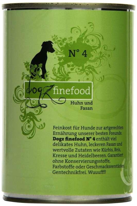 Dogz Finefood No.4 Huhn & Fasan 400 g 4260101763440