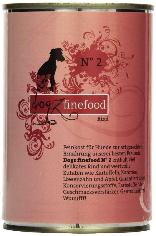 Dogz Finefood No. 2 Rind 400 g, 200 g, 800 g, 100 g