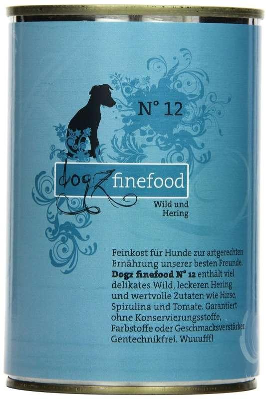 Dogz Finefood No.12 Wild & Hering 400 g