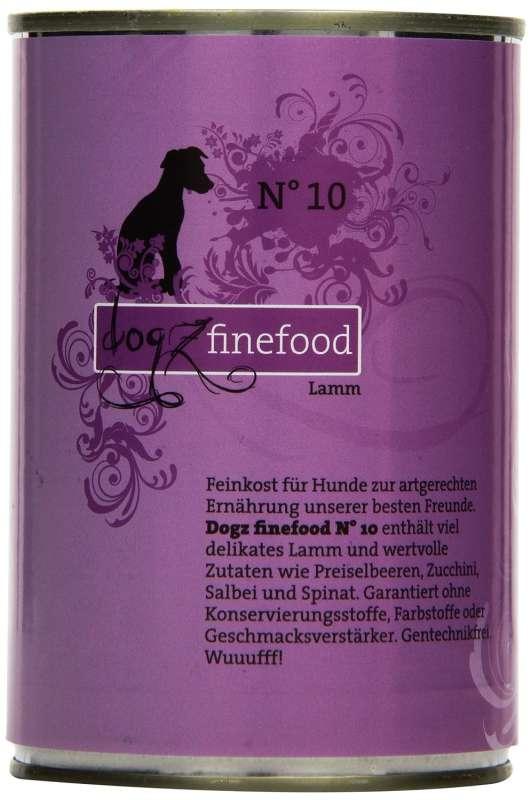 Dogz Finefood No.10 Lamm 400 g 4260101763440