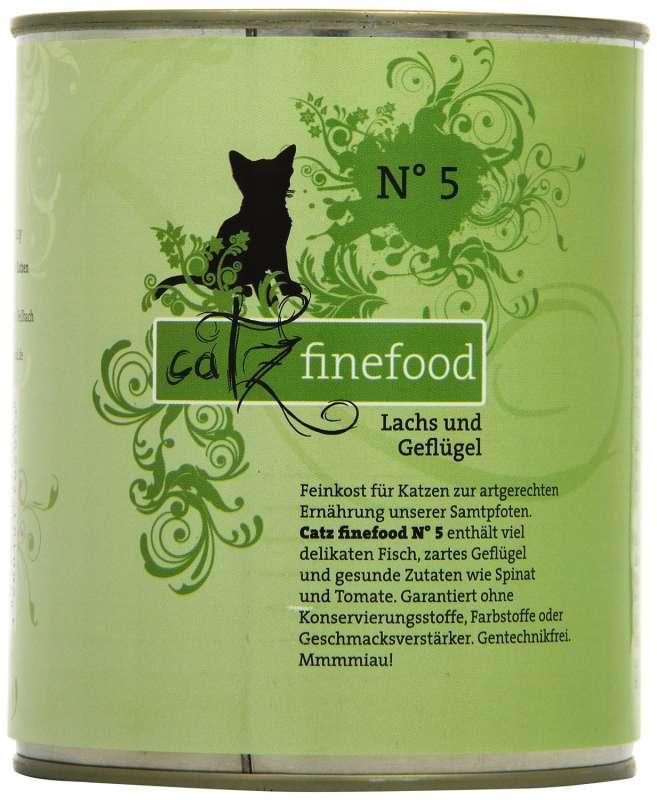 Catz Finefood No.5 Zalm & Gevogelte 800 g