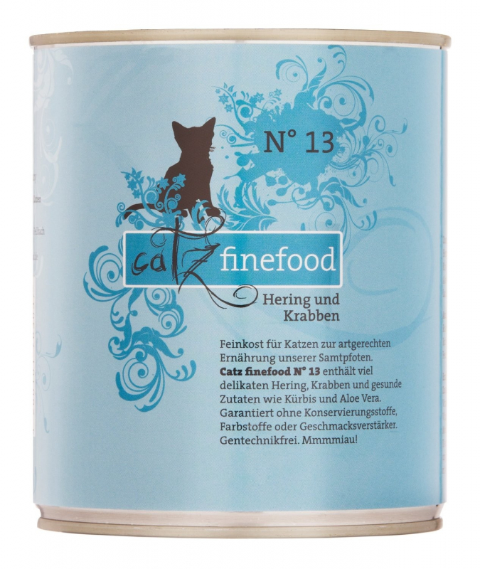 Catz Finefood No.13 Herring & Crabs 800 g