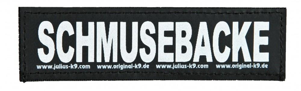 """Julius K9 Etiqueta de Velcro """"Schmusebacke""""  L SCHMUSEBACKE"""
