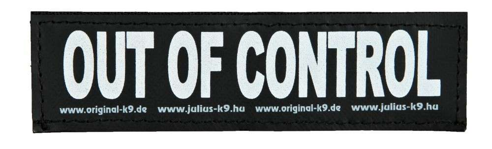 "Julius K9 Klittenbandsticker ""Out of Control""  L OUT OF CONTROL"
