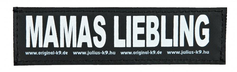 "Julius K9 Etiqueta de Velcro ""Mamas Liebling"" FREIZEITGESTALTER"