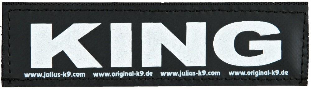 """Julius K9 Velcro Sticker """"King"""" FREIZEITGESTALTER"""