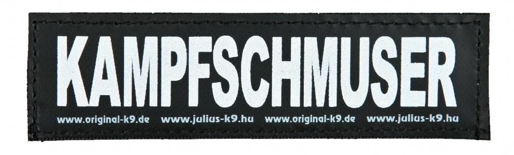 """Julius K9 Etiqueta de Velcro """"Kampfschmuser""""  L KAMPFSCHMUSER"""