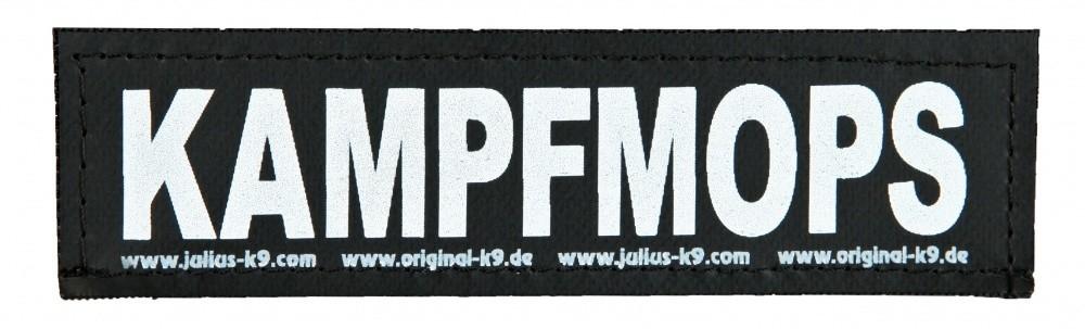 """Julius K9 Kardborrmärke """"Kampfmops""""  S KAMPFMOPS"""