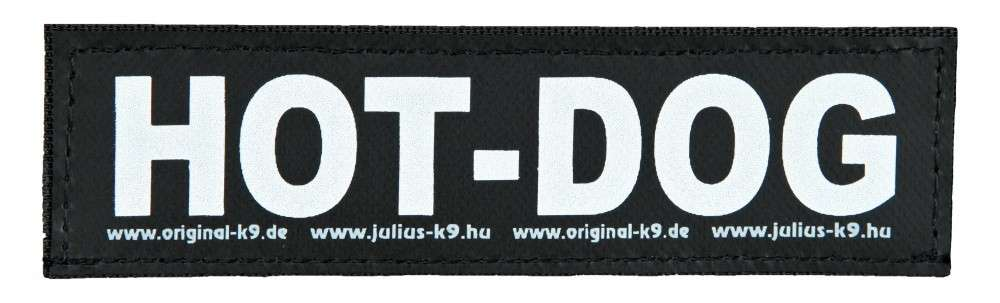 "Julius K9 Etiqueta de Velcro ""Hot Dog""  S HOT DOG"