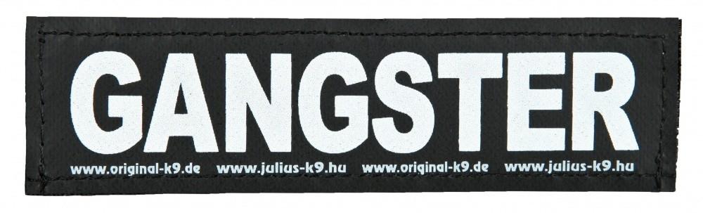 """Julius K9 Velcro Sticker """"Gangster"""" FREIZEITGESTALTER"""