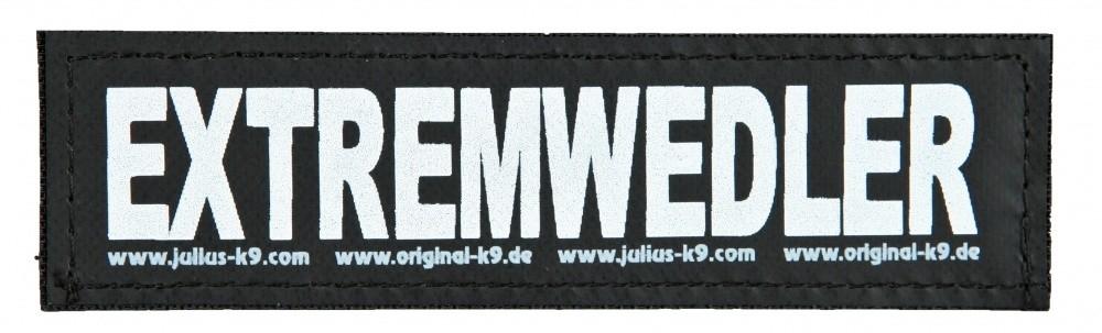 "Julius K9 Etiqueta de Velcro ""Extremwedler""  L EXTREMWEDLER"
