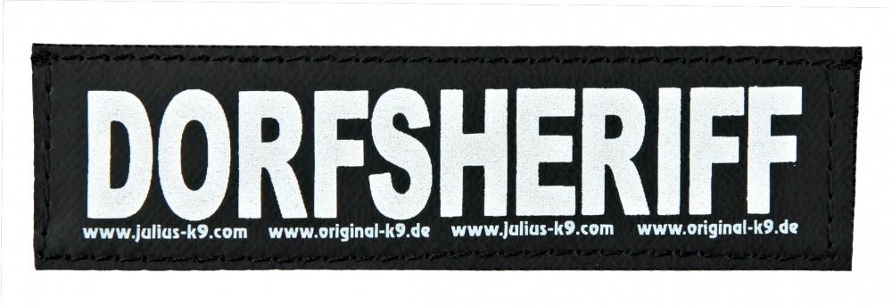 "Julius K9 Etiquetas de Velcro ""Dorfsheriff""  S DORFSHERIFF"