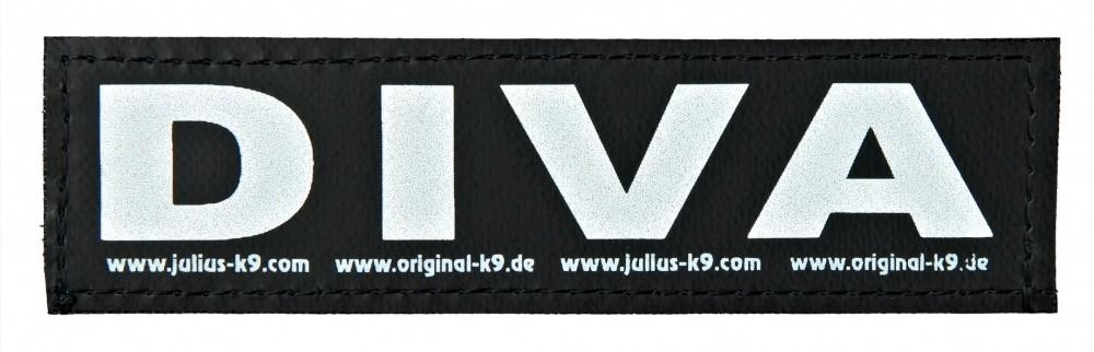 """Julius K9 Etiqueta de Velcro """"Diva""""  L DIVA"""