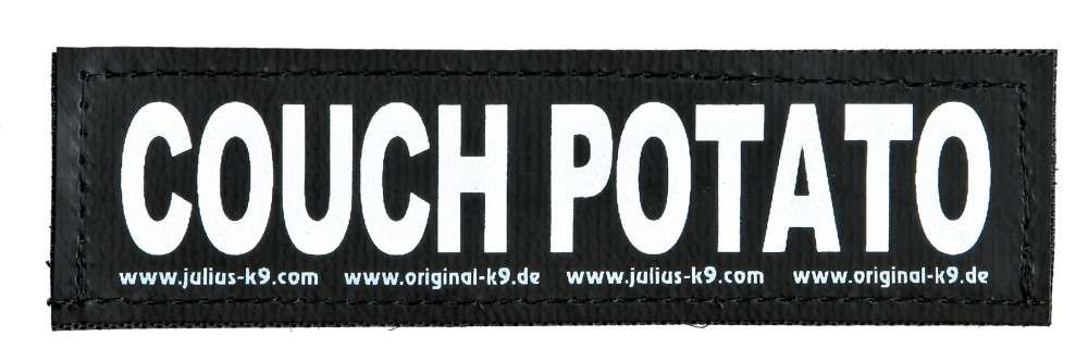 "Julius K9 Klittenbandsticker ""Couch Potato""  S COUCH POTATO"