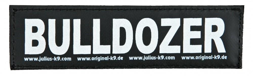 """Julius K9 Kardborrmärke """"Bulldozer""""  L BULLDOZER"""