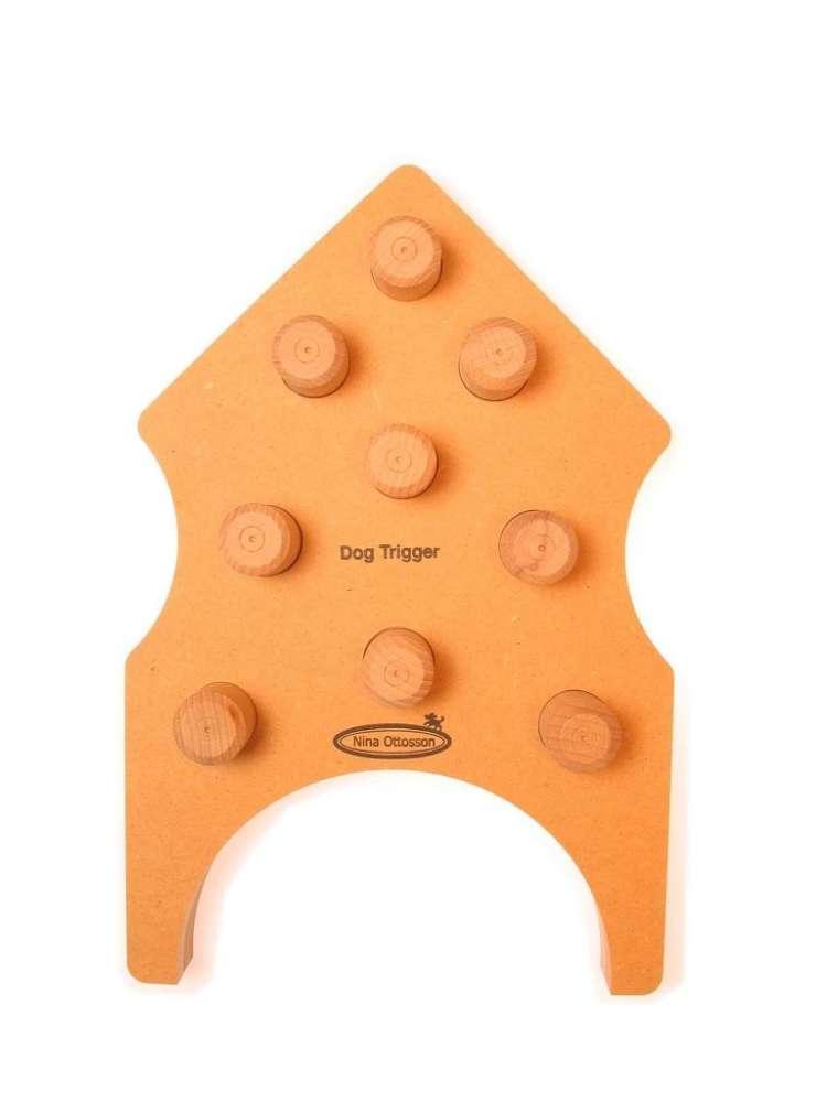 Nina Ottosson Kauwspeelgoed Dog Trigger Hout Oranje 26x40 m met korting aantrekkelijk en goedkoop kopen