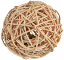 Wicker Ball with Bell Beige