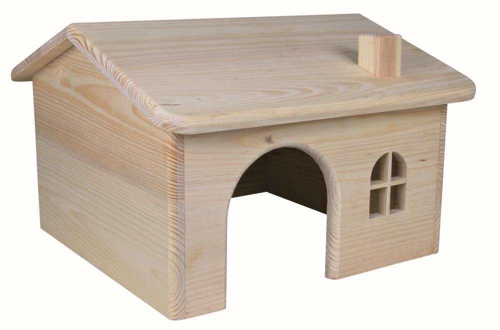 Trixie Houten Huis voor konijnen, 38×25×37cm 38×25×37 cm  met korting aantrekkelijk en goedkoop kopen