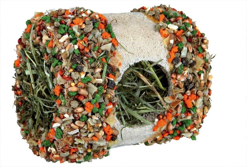 Trixie Luffa tunnel met hooi en groente   met korting aantrekkelijk en goedkoop kopen
