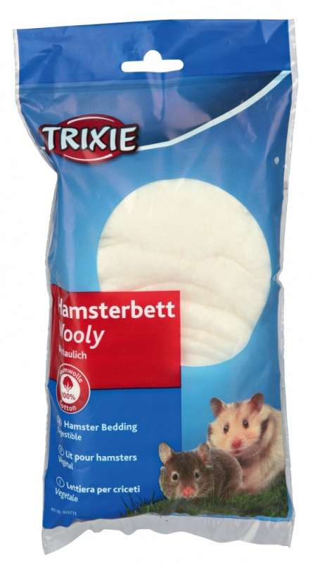 Trixie Wooly Hamsterseng  20 g Wit