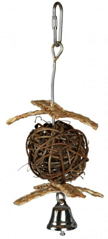Trixie Natural Living Weidenball mit Glocke 5.5/18 cm