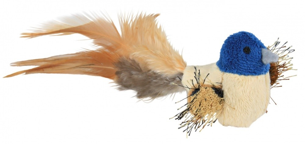 Trixie Plush Bird with Feathers 8 cm  kjøp billig med rabatt