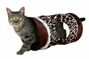 Cat Playing Tunnel Giraffe Brun