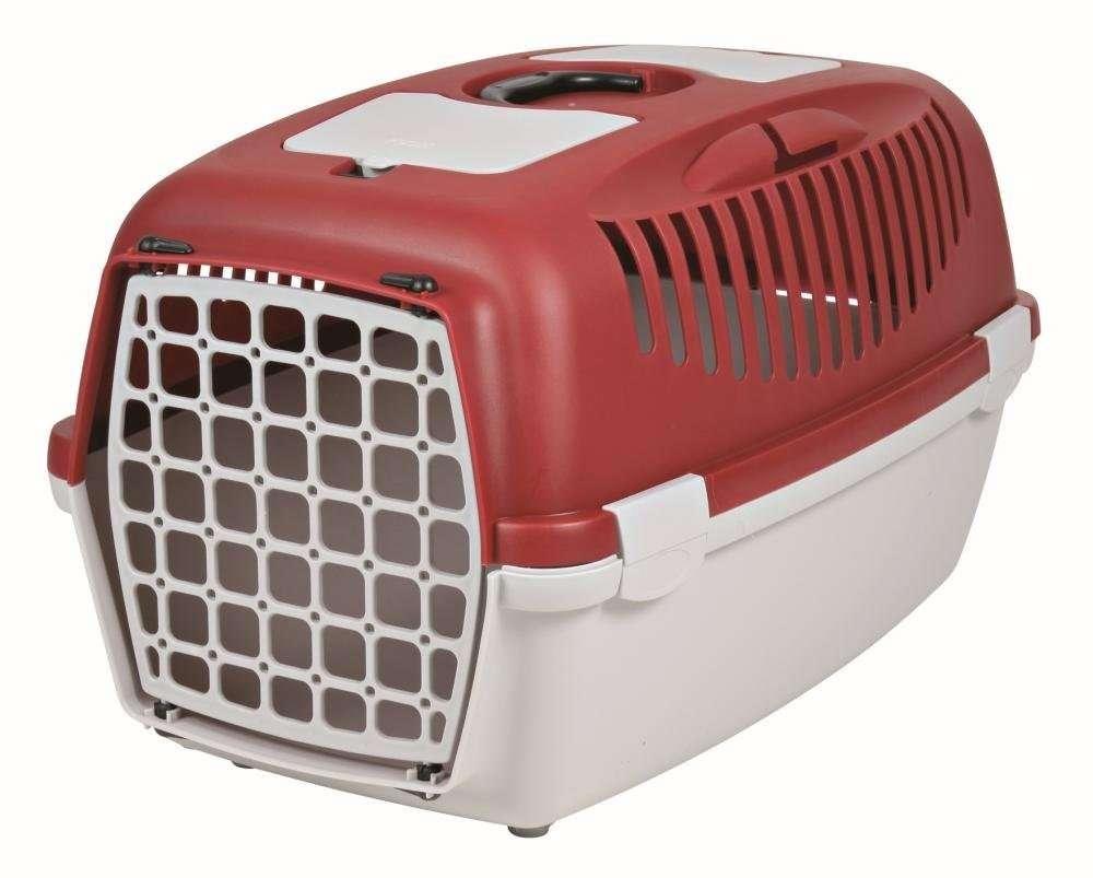 Trixie Transportbox Kat Capri, Grijs/Rood 40x38x61 cm  met korting aantrekkelijk en goedkoop kopen