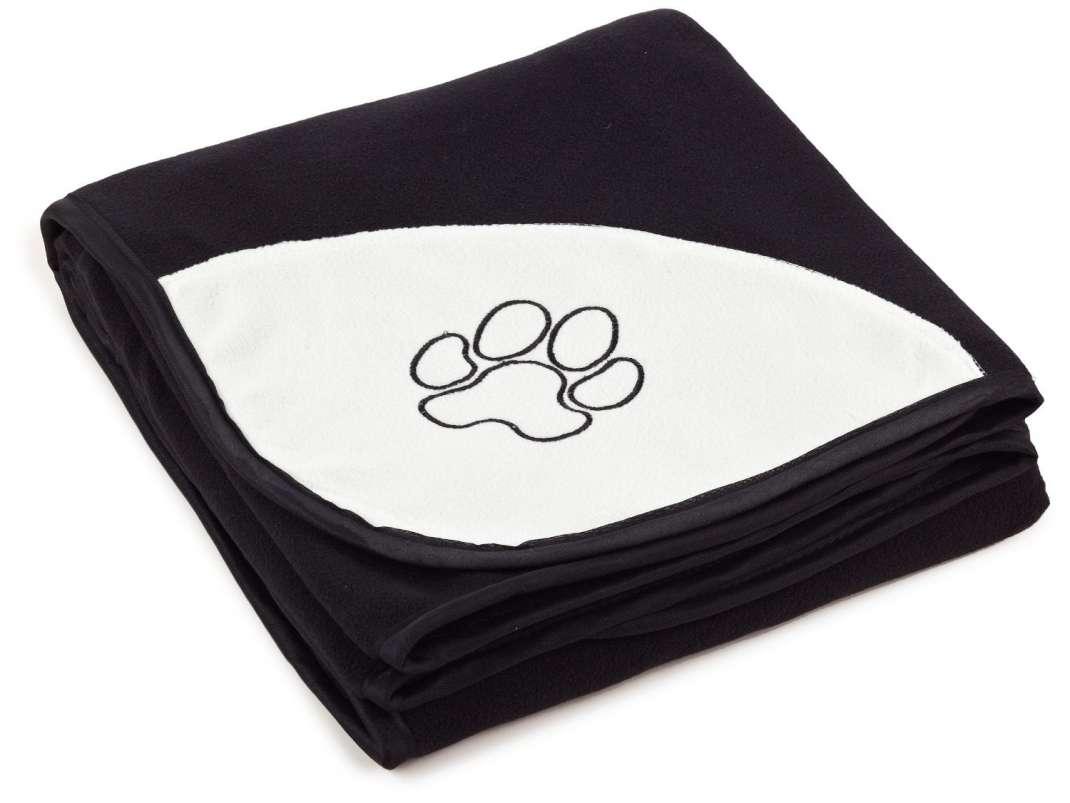 Trixie Beany pluche deken, zwart 100x150 cm  met korting aantrekkelijk en goedkoop kopen