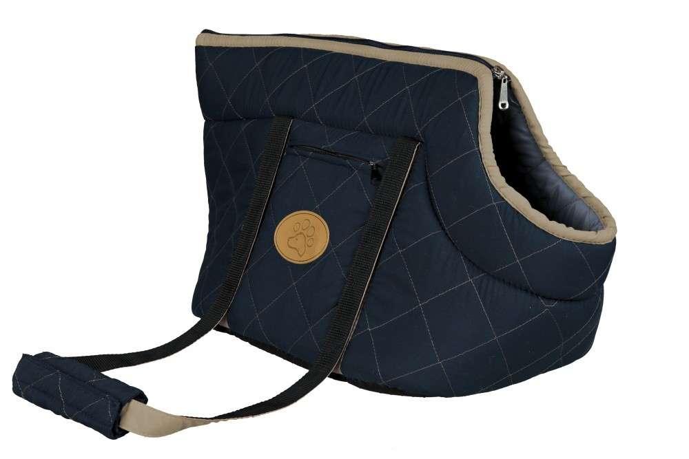 Trixie Viktoria Carrier, dark blue / beige 26x29x50 cm  kjøp billig med rabatt