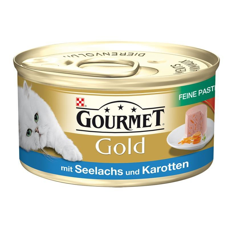 Purina Gourmet Gold Mousse met Koolvis & Wortel 85 g 0000040056494