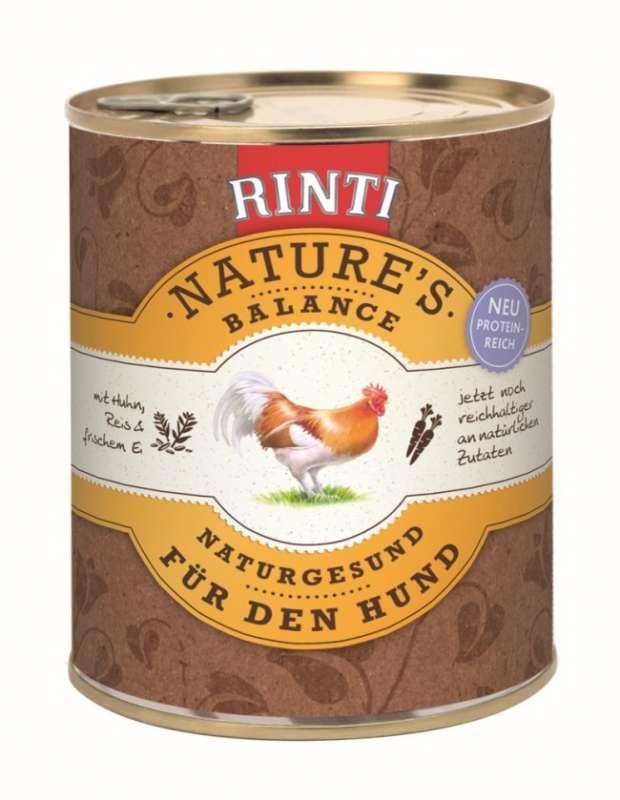 Rinti Natures Balance Kip & Rijst 800 g, 400 g, 185 g