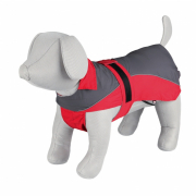 Raincoat Lorient, grey/red Trixie 55 cm