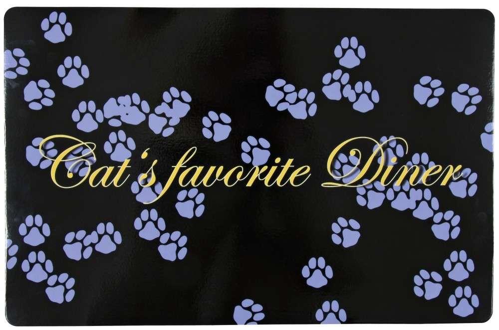 Place Mat - Cat's favorite Dinner Svart 44x28 cm från Trixie köp billiga på nätet
