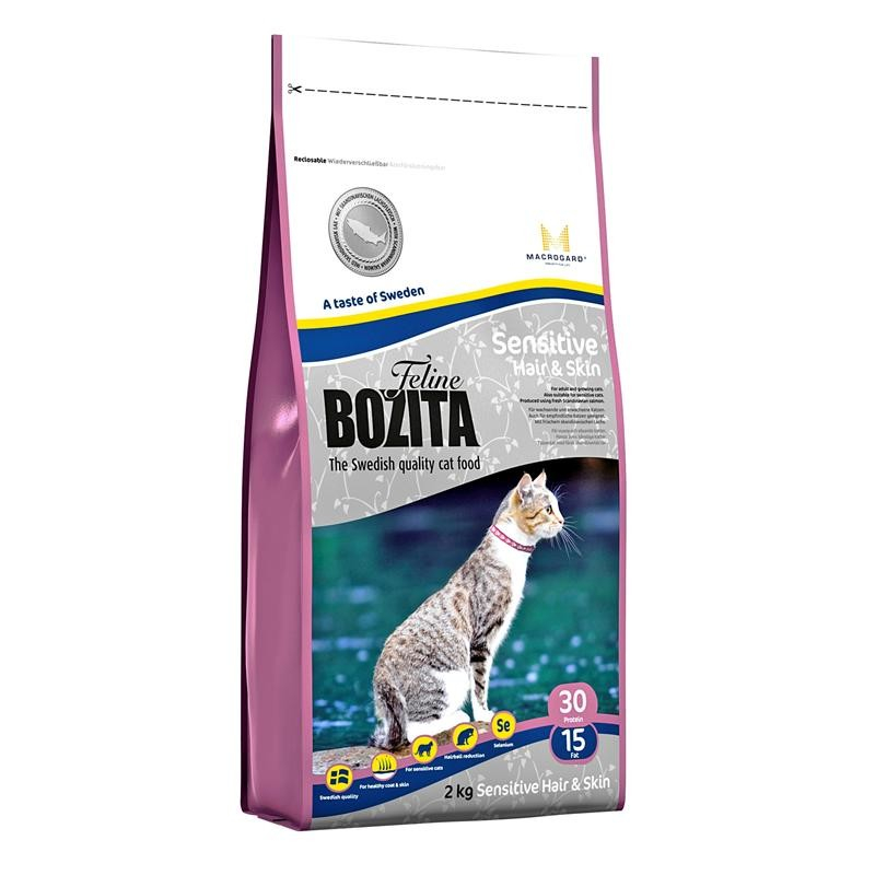 Bozita Feline Sensitive Hair & Skin 400 g, 2 kg, 10 kg test