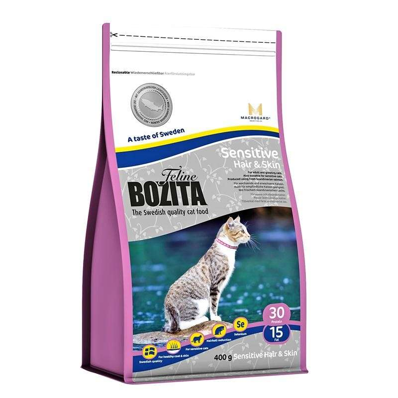 Bozita Feline Sensitive Hair & Skin 400 g