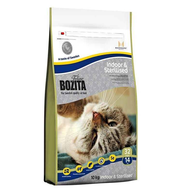 Bozita Feline Indoor & Sterilised with Swedish Chicken 10 kg 7311030303300 anmeldelser