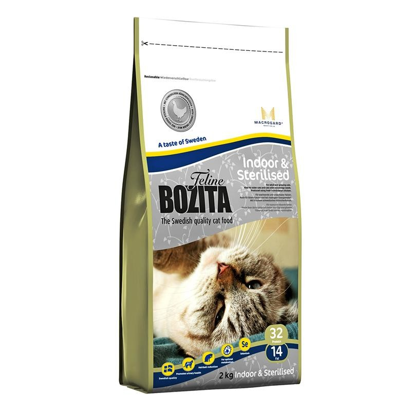 Bozita Feline Indoor & Sterilised with Swedish Chicken 400 g, 2 kg, 10 kg test