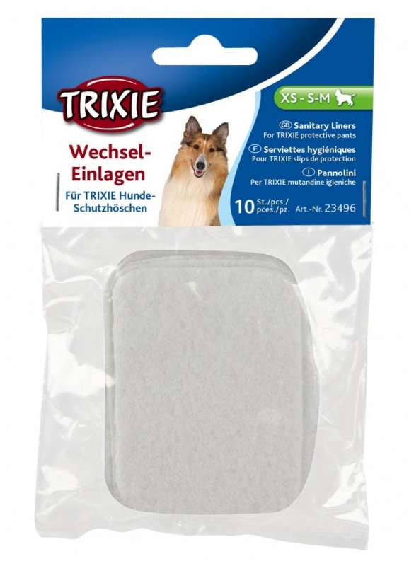 Bandejas, pañales y bolsas para excremento Compresas sanitarias para bragas S, M, L por Trixie сompra justa y convenientemente con un descuento