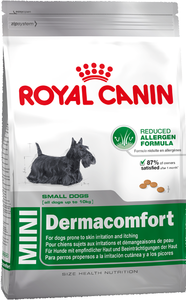 Royal Canin Size Health Nutrition Mini Dermacomfort 4 kg 3182550779067 erfaringer