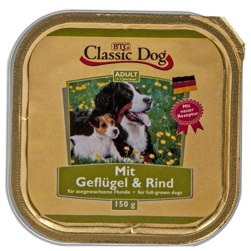 Classic Dog Bowl Poultry & Beef 150 g