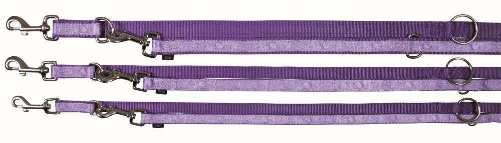 Trixie Impression Adjustable Leash  Flower Power 200x2.5 cm Violet kjøp billig med rabatt