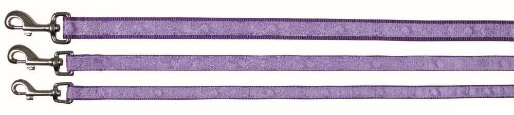 Trixie Impression Leash Flower Power, Violet 100x2.5 cm  kjøp billig med rabatt