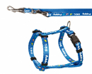 Puppy Harness with Leash, blue Blue