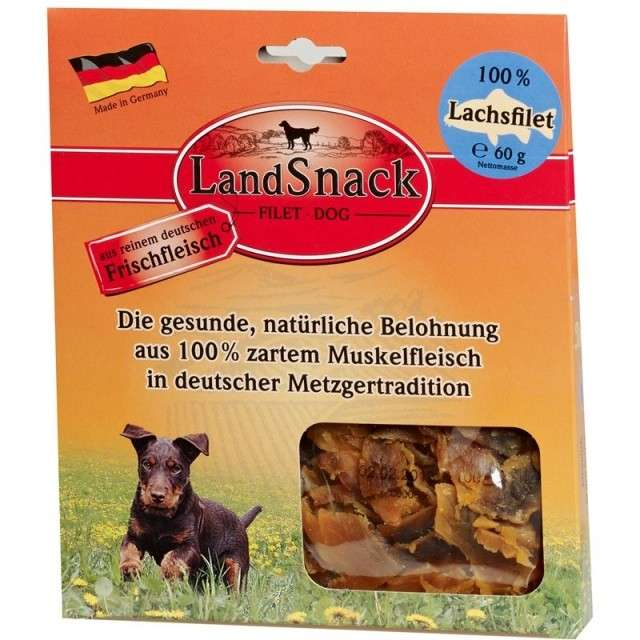 Landfleisch LandSnack Fillet Dog Salmon 60 g, 170 g osta edullisesti