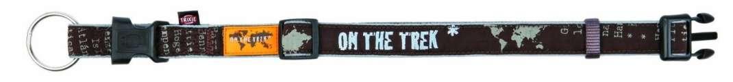 Trixie Halsband Modern Art On the Trek, Bruin 40-65x2.5 cm  met korting aantrekkelijk en goedkoop kopen
