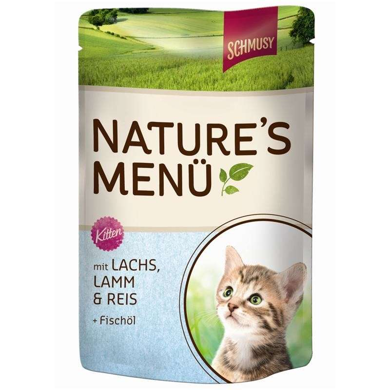 Nature's Menu Kitten Salmon by Schmusy 190 g, 100 g buy